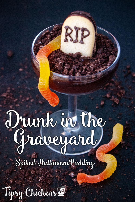 halloween alcoholic pudding graveyard dirt