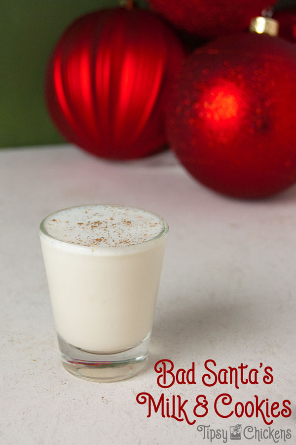 Leave one of these shots under the tree for Santa and you'll be getting some good gifts this year. This Christmas shot is the perfect mix of RumChata and Vanilla Schnaps #rumchata #ChristmasShots