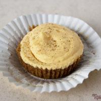 No Bake Mini Spiked Eggnog Cheesecake