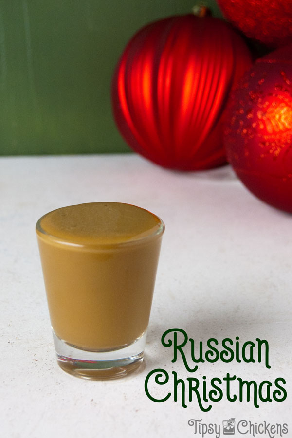 A tiny Christmas White Russian, this is exactly what you need to get more eggnog (and vodka) in your life! Make it a double and enjoy on the rocks #Eggnog #ChristmasShot