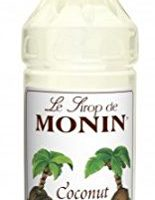 Monin Flavored Syrup, Coconut, 33.8-Ounce Plastic Bottle (1 liter)