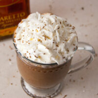 Spiked Almond Joy Hot Chocolate