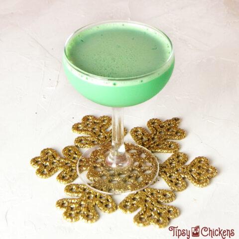 Mistletoe Kisses Chocolate Mint Christmas Cocktail