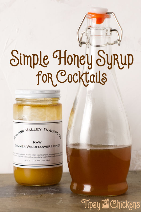 Take your cocktails to the next level with a homemade honey syrup. Experiment with different types of honey for a surprising variety in flavors #honey #cocktailsyrup