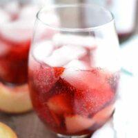 Strawberry Peach Spritzers
