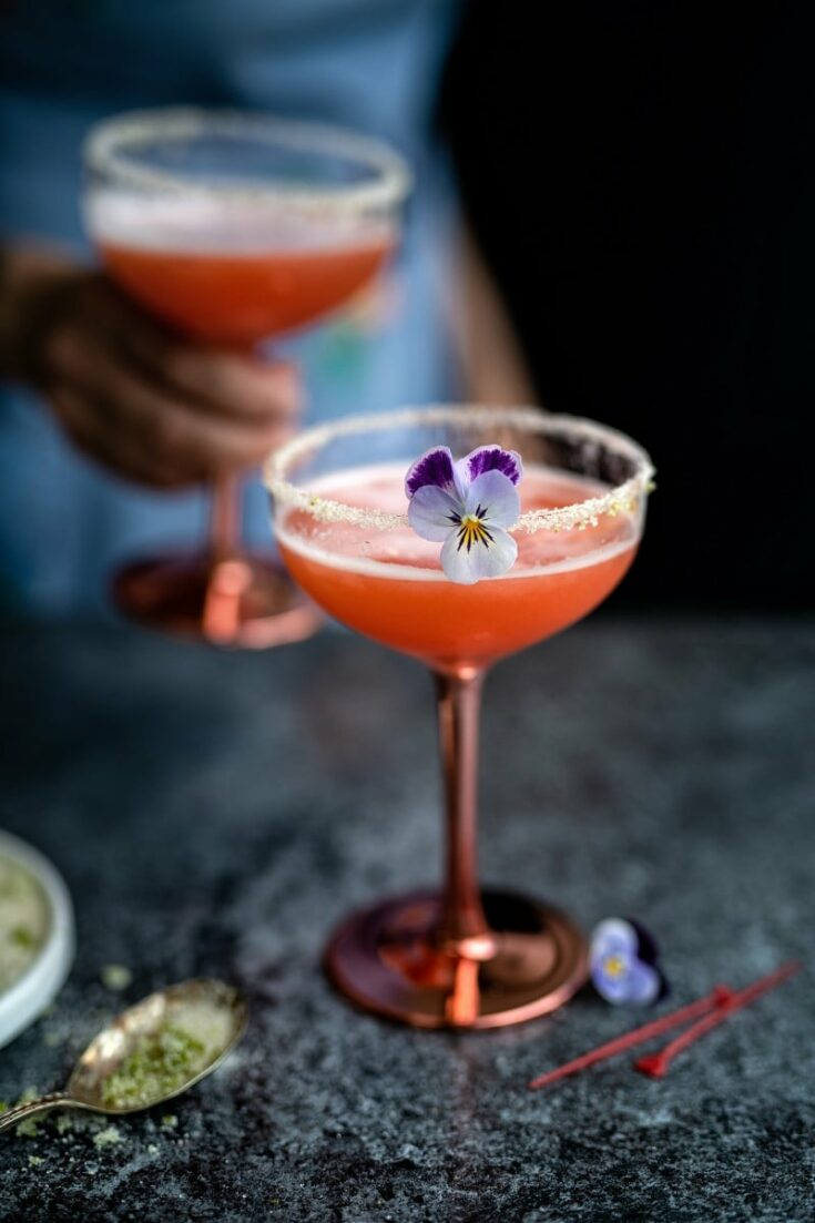 Strawberry Gin Sour