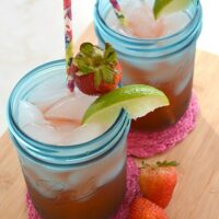 Strawberry Margaritas with Homemade Strawberry Syrup
