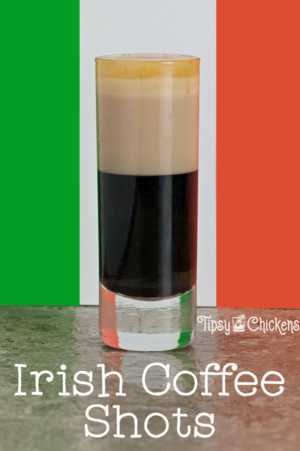 Forget the coffee mug, this Irish Coffee shot has everything you need in a much smaller vessel thanks to coffee liqueur and Irish Cream. Take it up a notch with a splash of Irish Whiskey