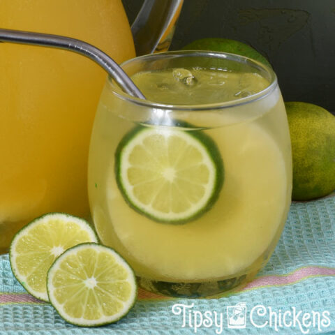 Pineapple Lime Champagne Punch