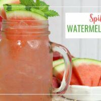Spiked Fresh Watermelon Cocktail: Watermelon Breeze w/ Rum & Tequila