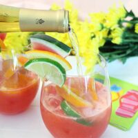 Watermelon Sangria Light Summer Cocktail