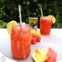 Sour Watermelon Shandy (3 ingredients!)