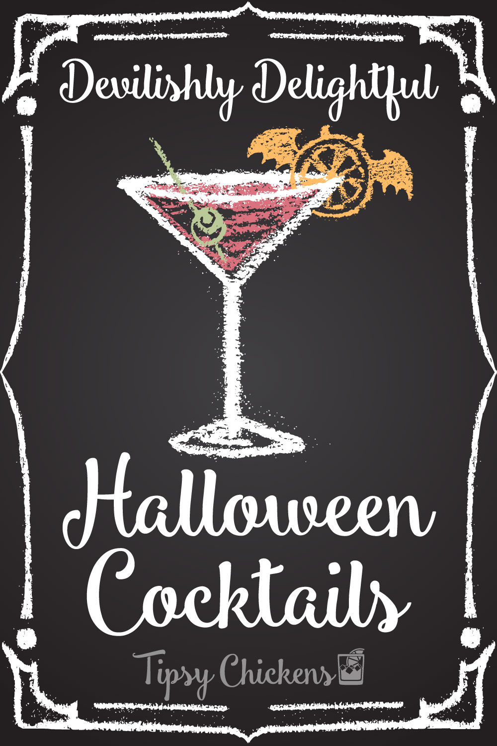 halloween cocktail in a glass